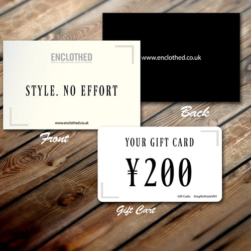 card or invitation for Enclothed