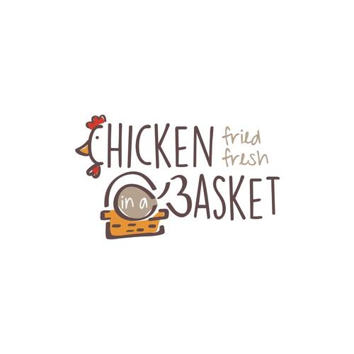 Chicken in a Basket Fried Chicken Logo