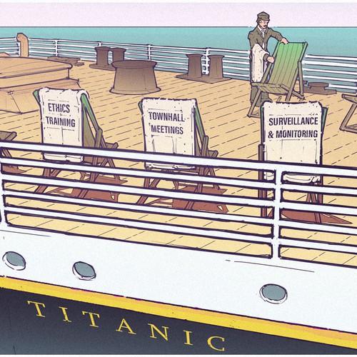 Titanic Illustration