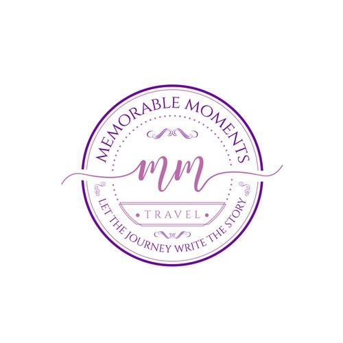 Luxury logo for Memorable Moments Travel Brand