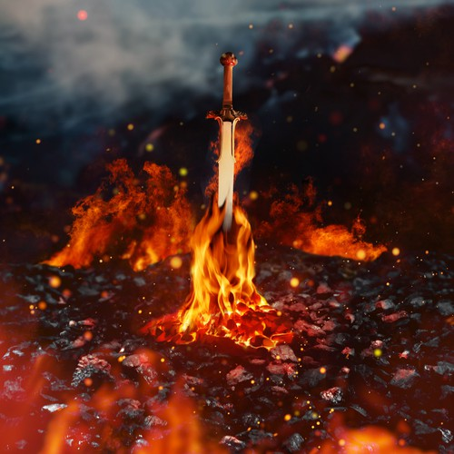 Fire Sword Matte Painting