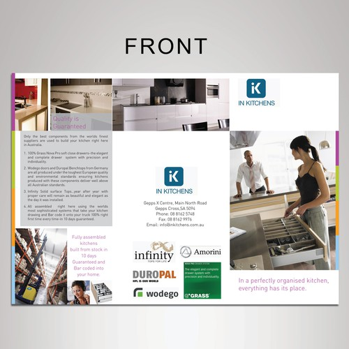 WE NEED YOUR HELP TO DESIGN IN KITCHENS A QUALITY BROCHURE