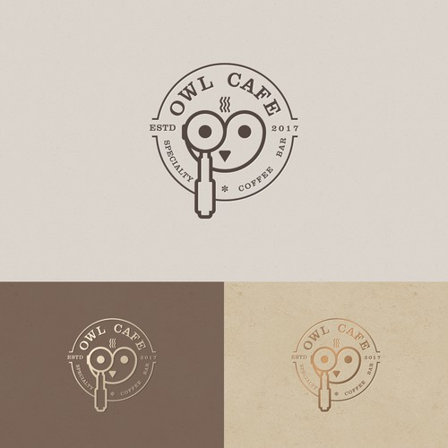 Logo Design concept for OWL CAFE