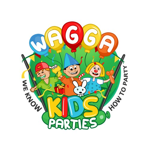 Logo design for_Wagga kids Parties