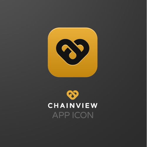 Logo concept for cryptocurrency company