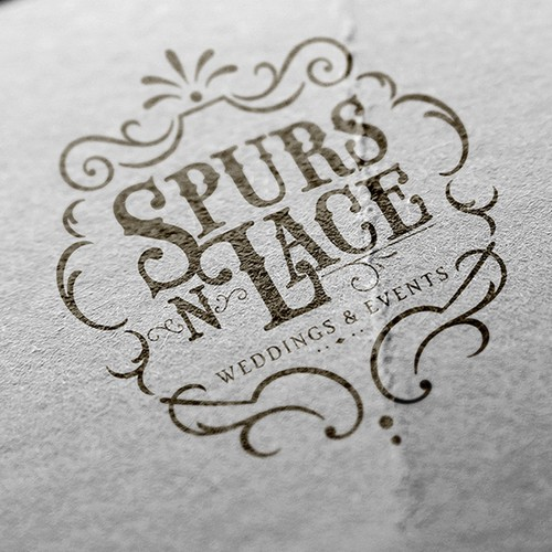 Logo concept for Spurs N Lace Weddings & Events