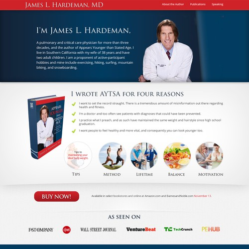 website design for James L Hardeman
