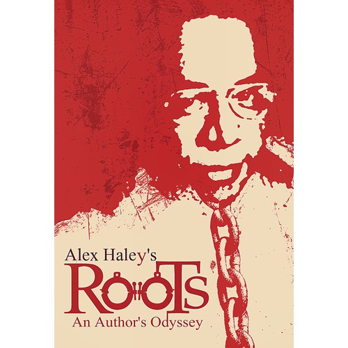 """Create a 1970s retro book cover for biography of Alex Haley, author of """"Roots."""""""
