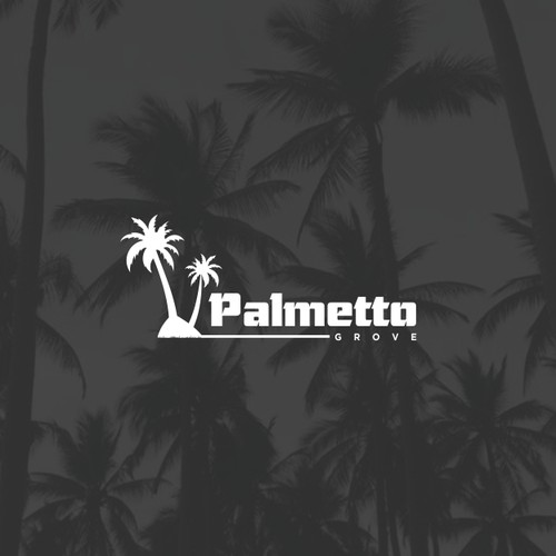 logo concept for palm tree real estate