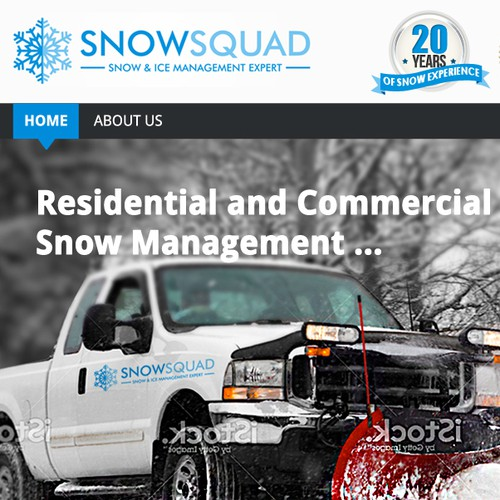 Bring it'!  Snow Squad, design one of the first website dedicated for snow removal