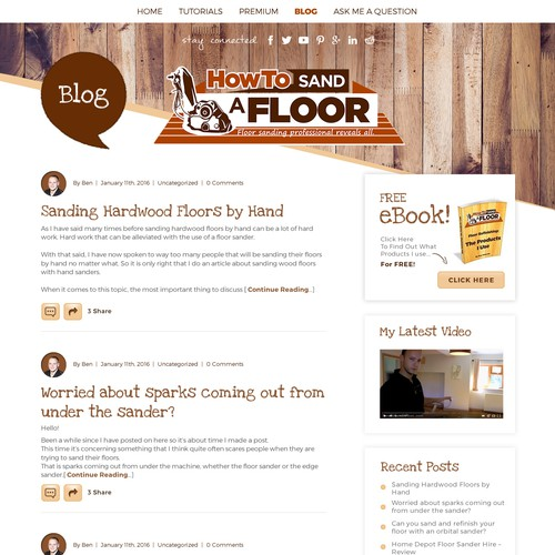 Website design for a Floor Sanding Company