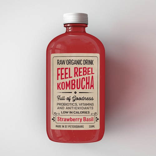 Label design for an organic kombucha