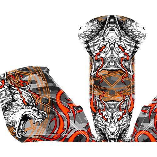 """Create welding helmet graphic """"skin"""" (successful design will be used in mass production)"""