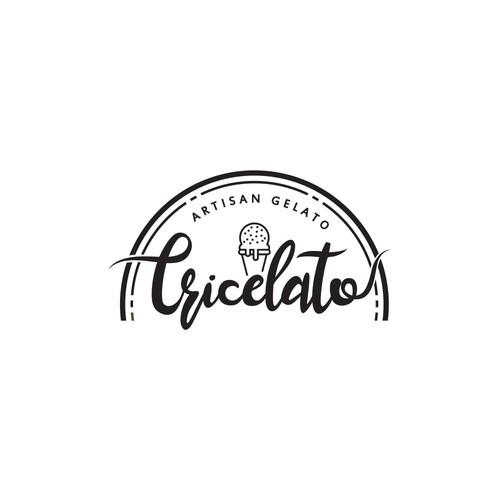 Logo for a gelato ice cream store