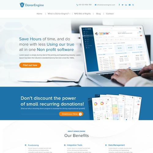 Donor Engine - Website Design