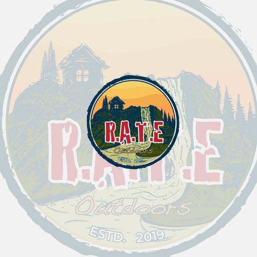 Outdoors and mountain logo