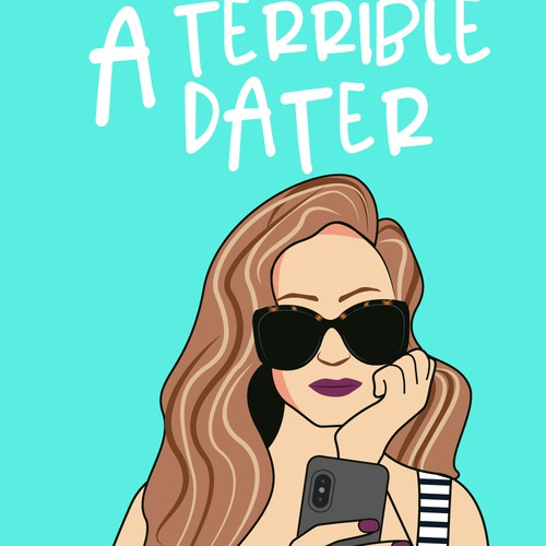 A terrible dater by Sabrina Must cover design