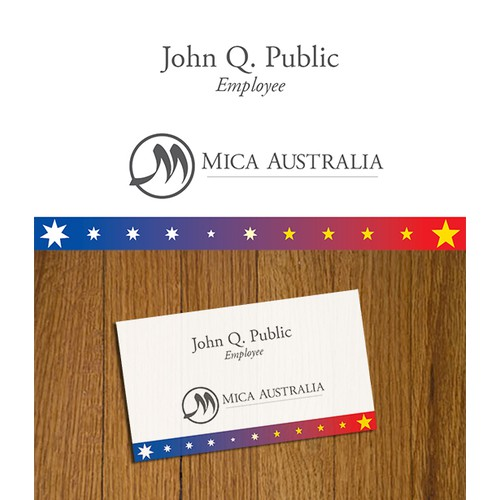 Mica Australia Business Card