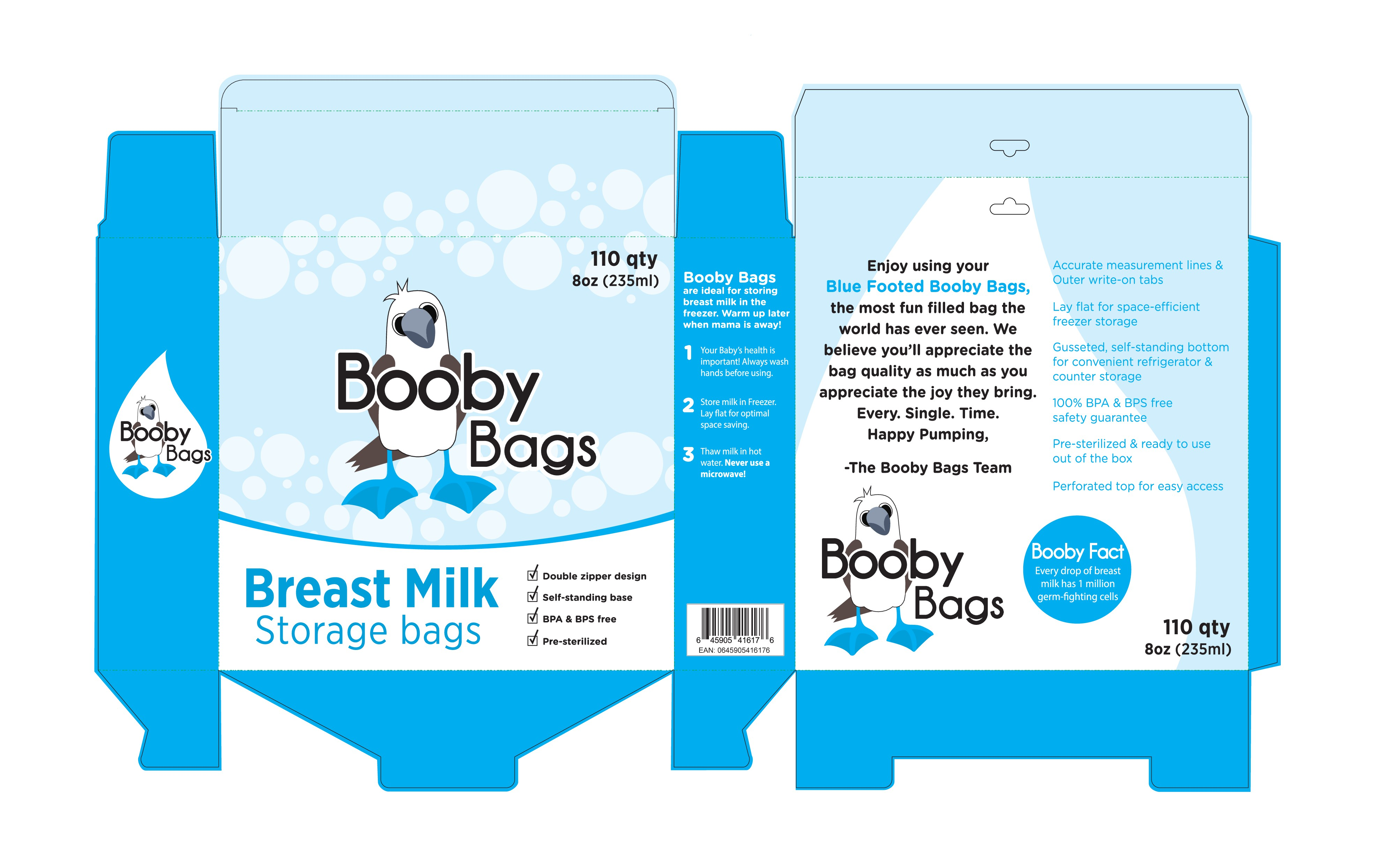 Designed for smiles, a box for BoobyBags