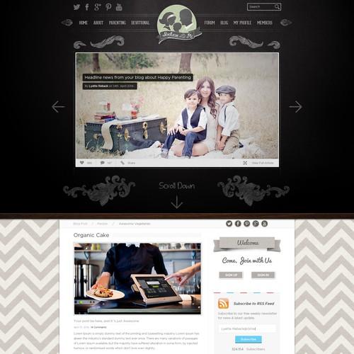 Inspirational Parenting Website Vintage Vibe