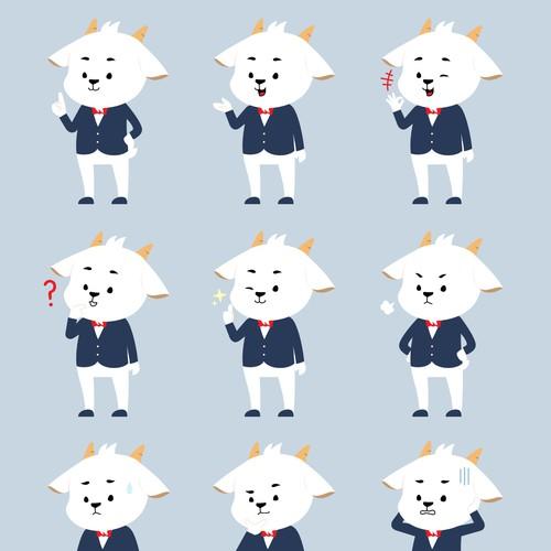 Goat Mascot designs