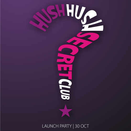 Secret VIP Launch Party Poster