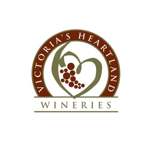 Victoria's Heartland Wineries Logo Concept