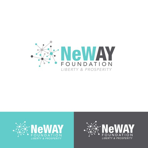 Winning logo designed for a foundation to promote liberty and economic prosperity. [July 2016]