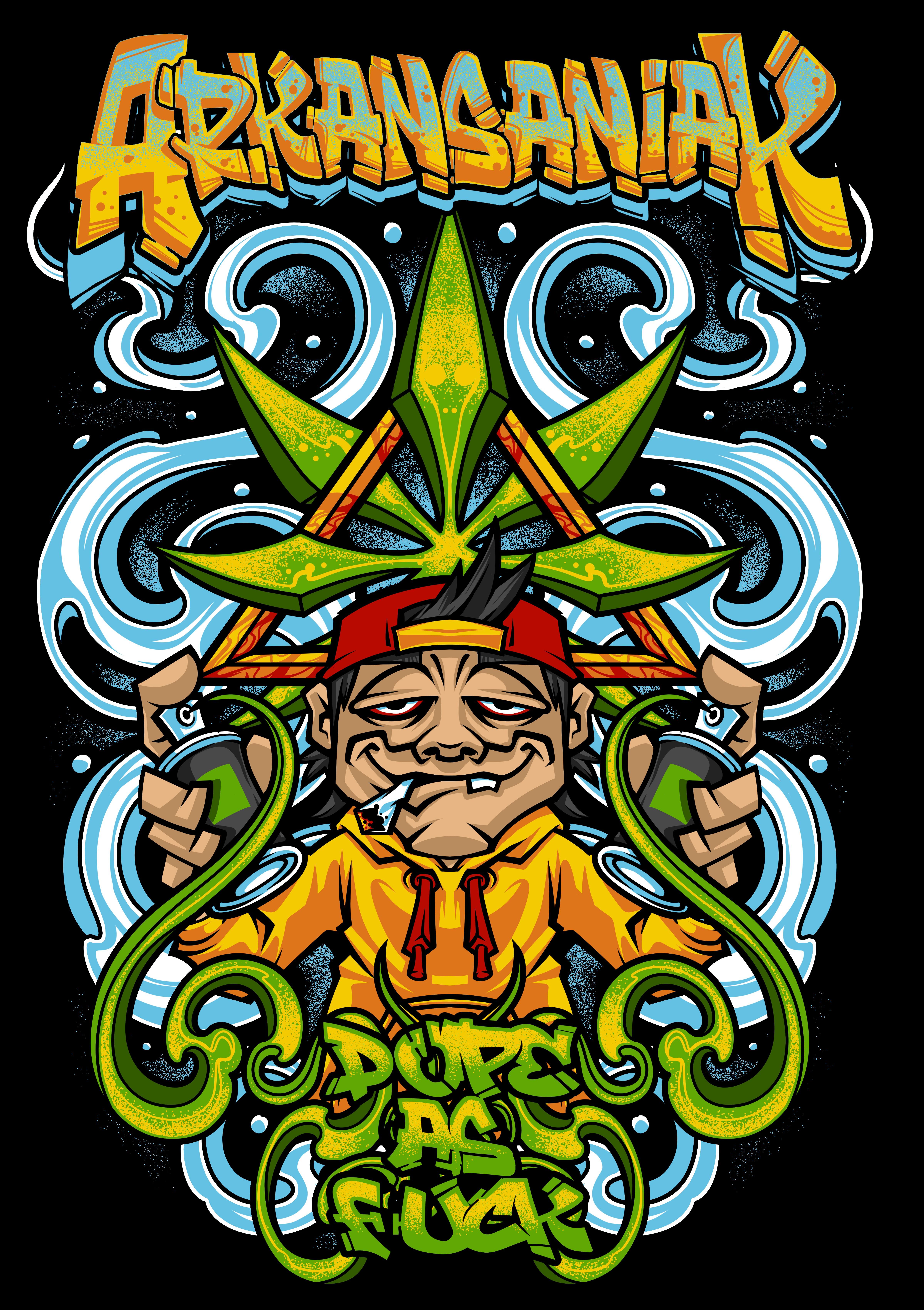 Marijuana Graffiti T-Shirt Design