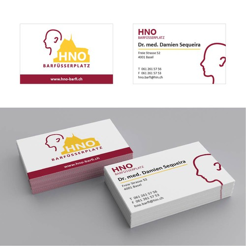 Logo and business card design for medical practice