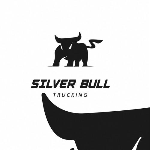 Strong bold flat bull logo