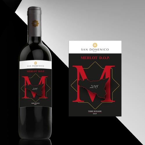 Nuovo brand etichette vini San Domenico