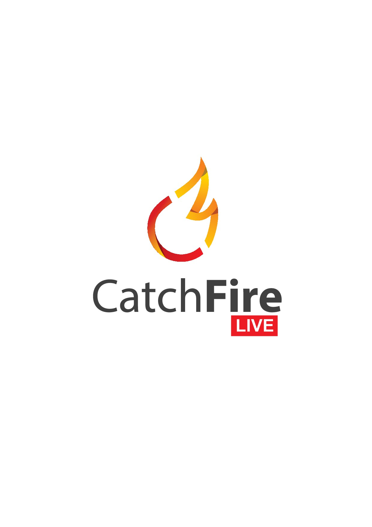 """""""Catch Fire Live"""" total life transformation event logo"""