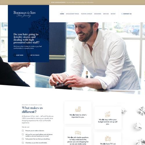 Jeweller website design