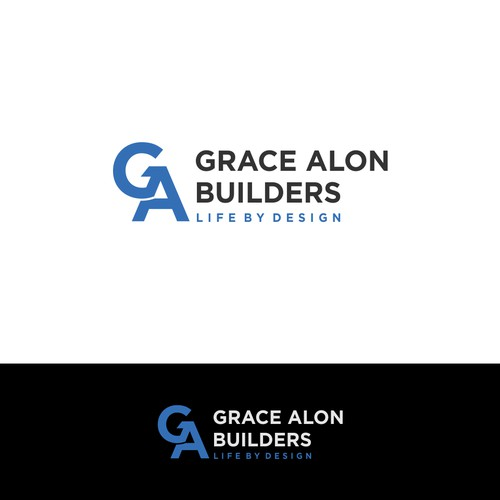 Powerful but simple logo for residential builder