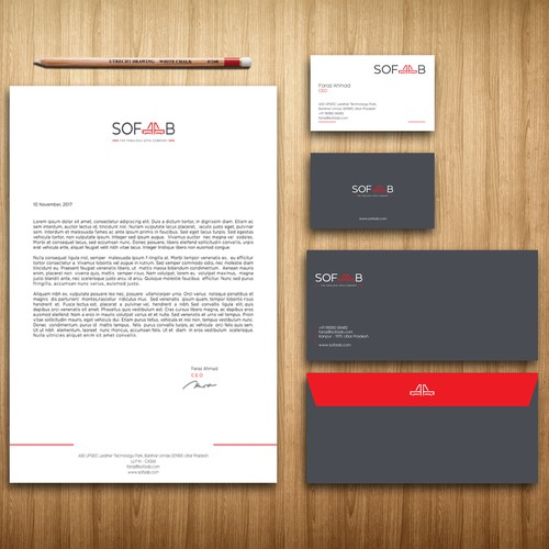 stationery for sofaab logo