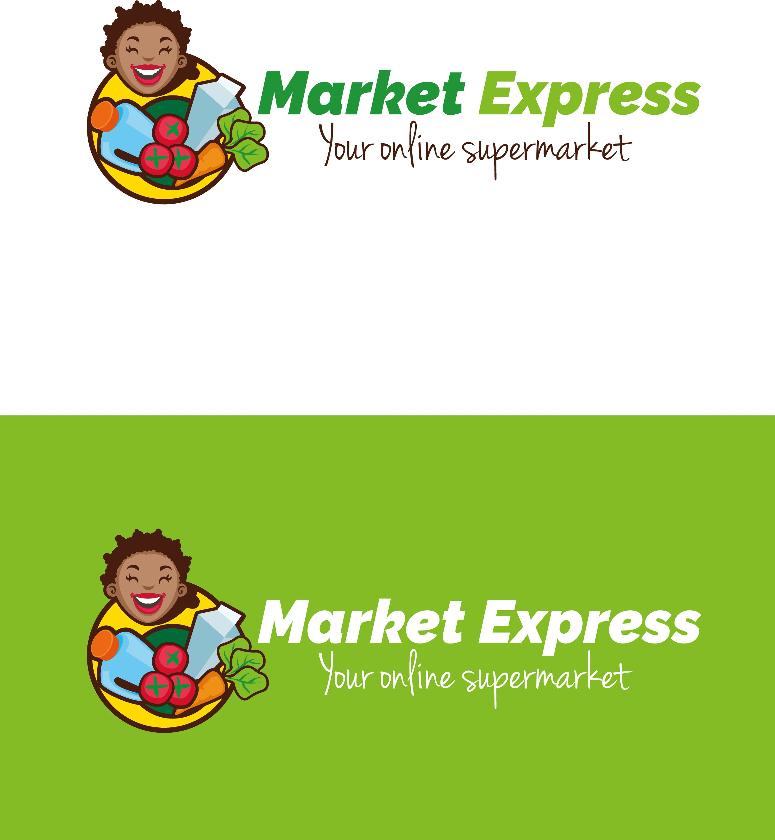 Create a logo for an online grocery delivery service.