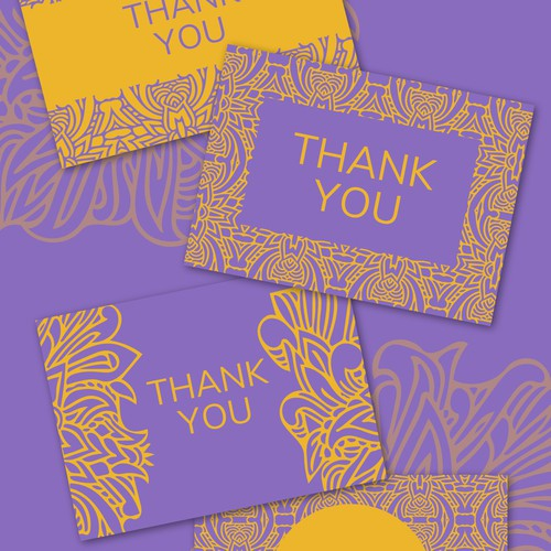 Bunch of 4 Thank you cards