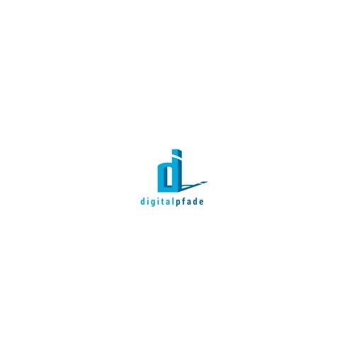 Neoclassical logo for tech company