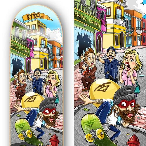Steel Skateboard Design
