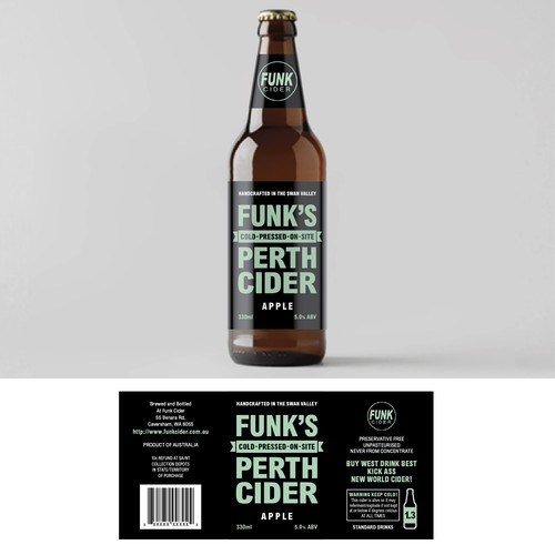 Bottle label design