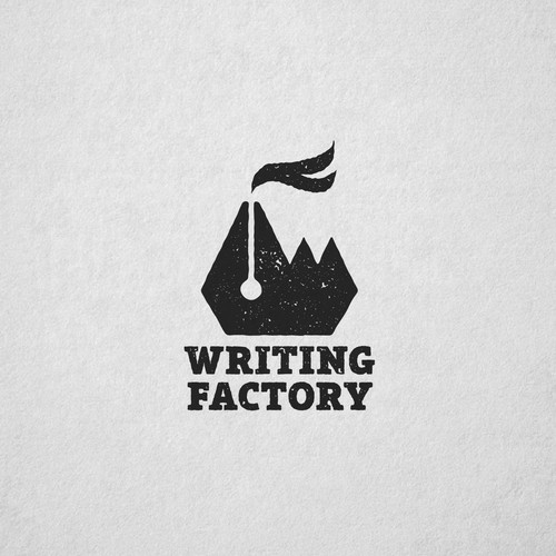 Creative logo for Writing Factory