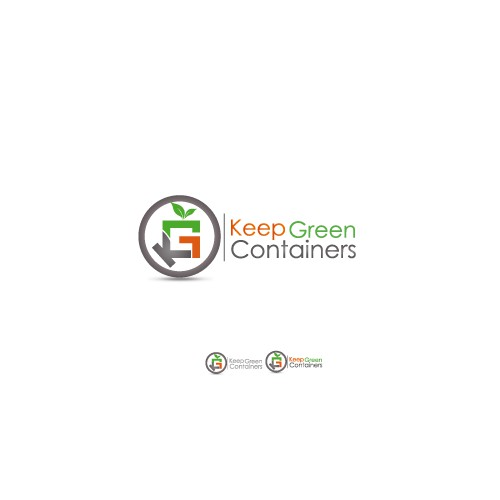 Create a logo for a Keep Green Containers