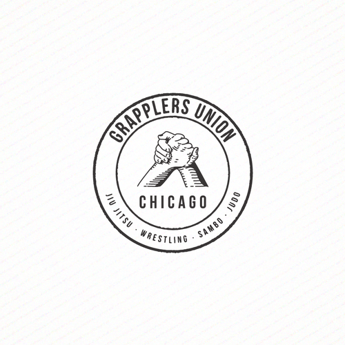 Stamp Logo Style for Grapplers Union