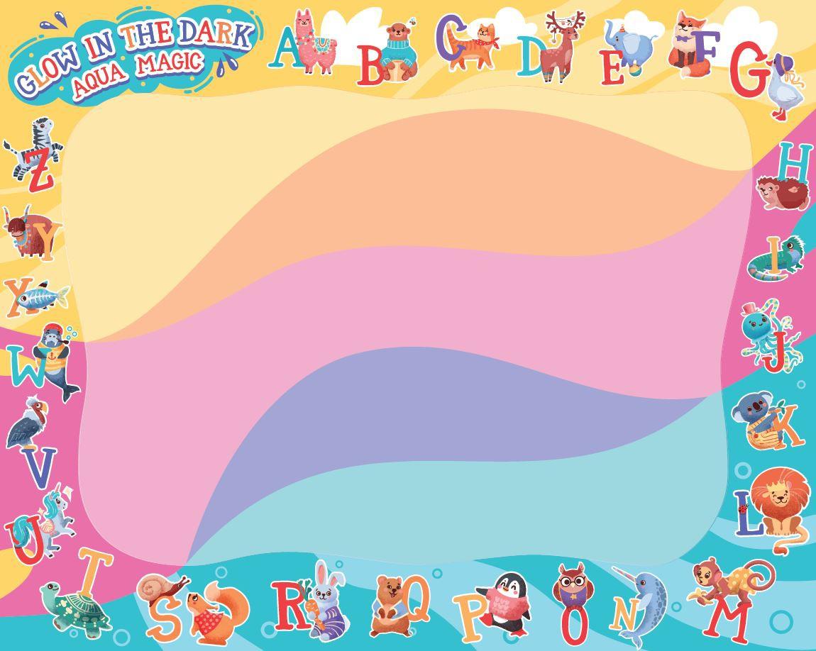 Design for children's aqua doodle mat
