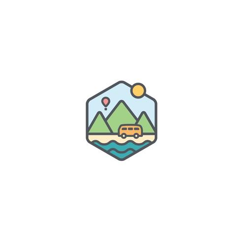 Eye catching logo for travel blog