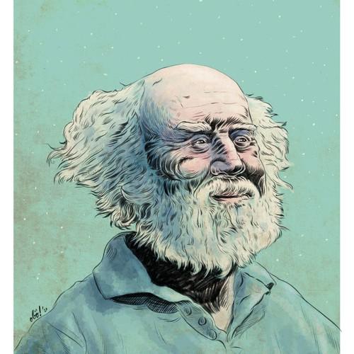 Hubert Reeves Portrait illustration