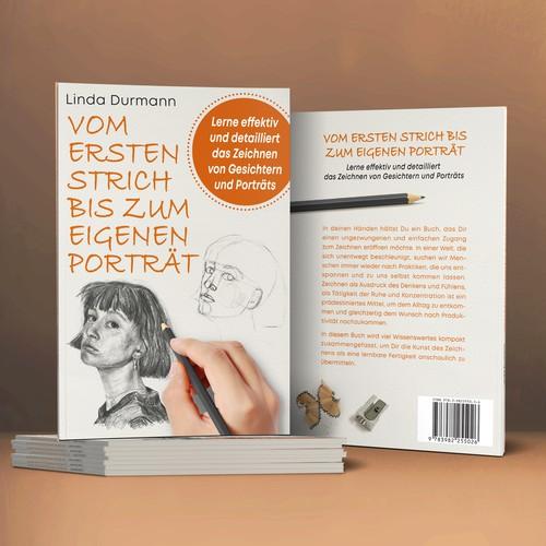 """Book cover for """"Vom ersten Strich bis zum eigenen Porträt"""""""