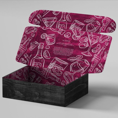 Gift box packaging for a drink company