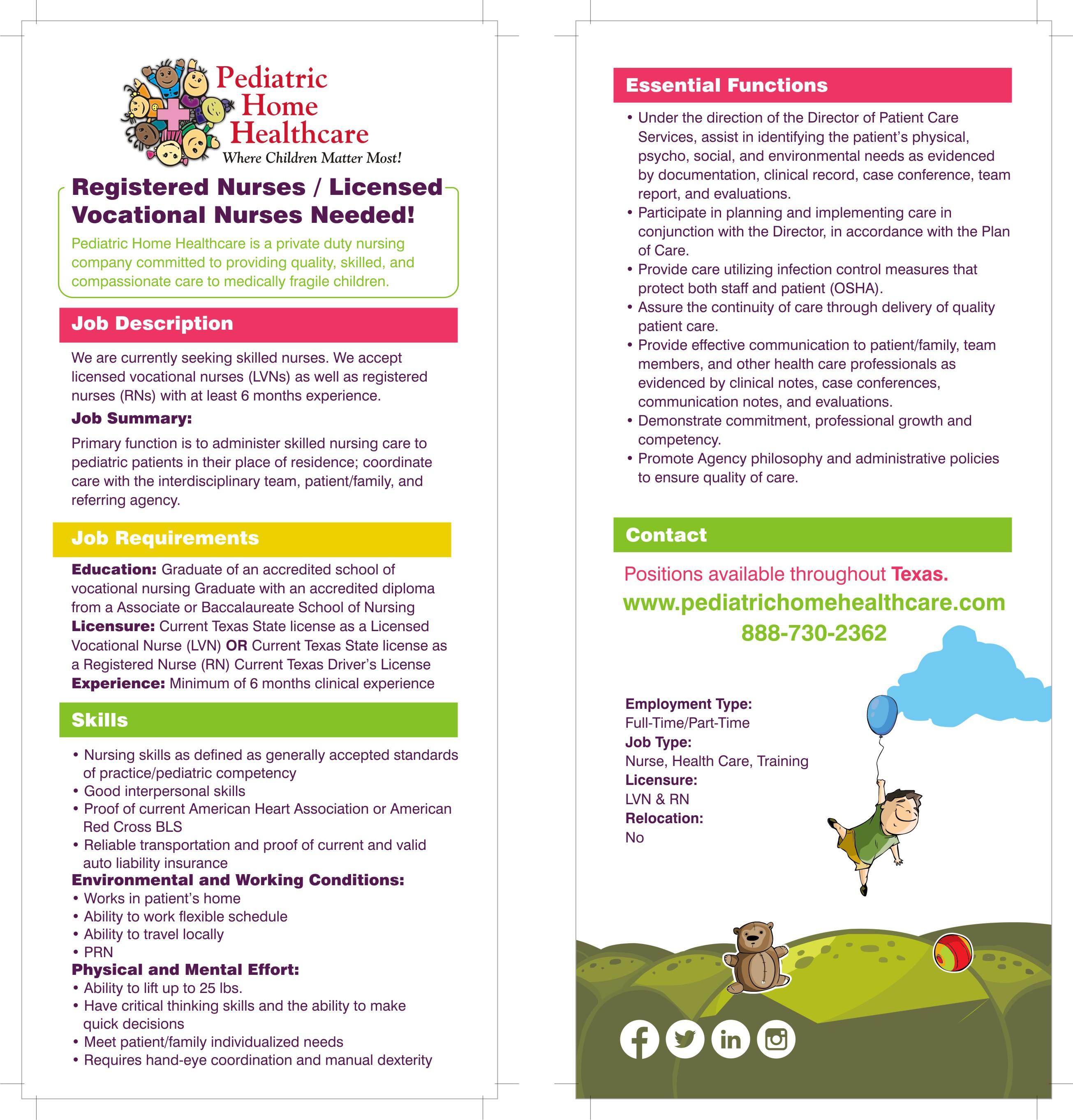 Nurse Info. Handout
